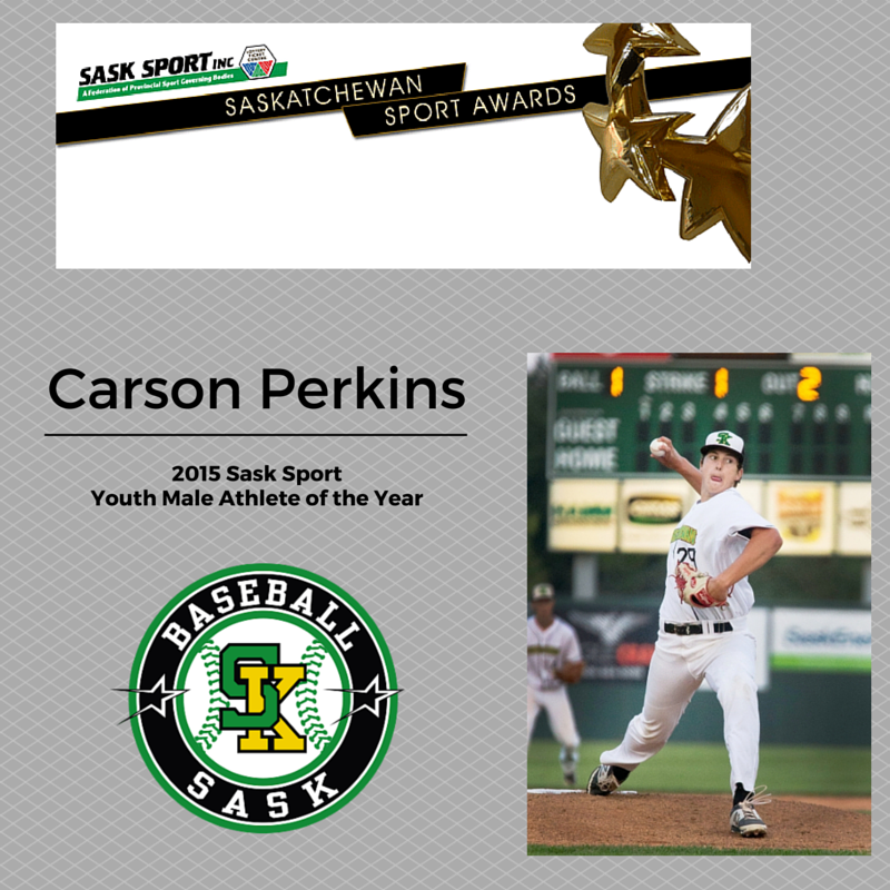 Carson Perkins Named 2015 Sask Sport Youth Male Athlete of the Year