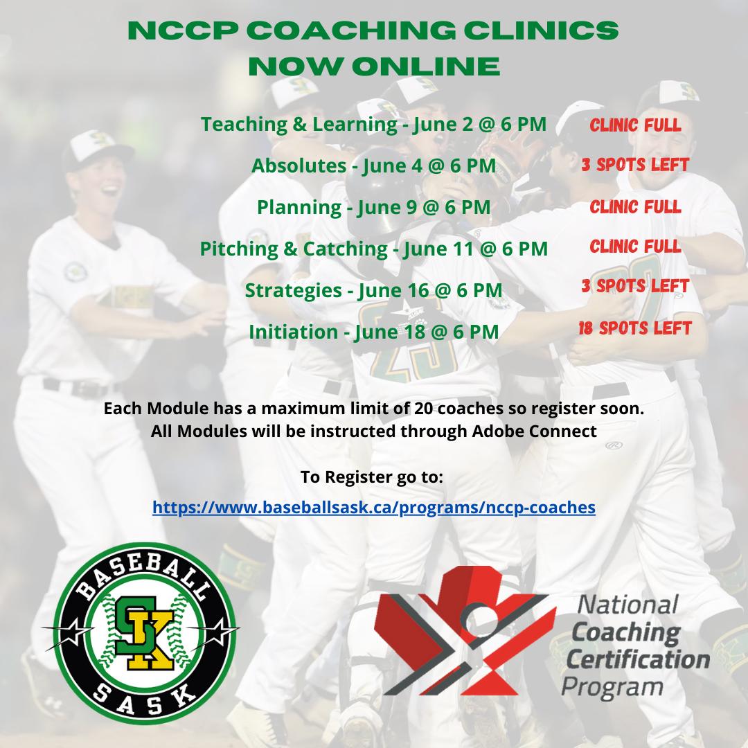 NCCP COACHING CLINICS NOW ONLINE