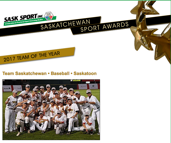Team Sask Named 2017 Sask Sport Team of the Year