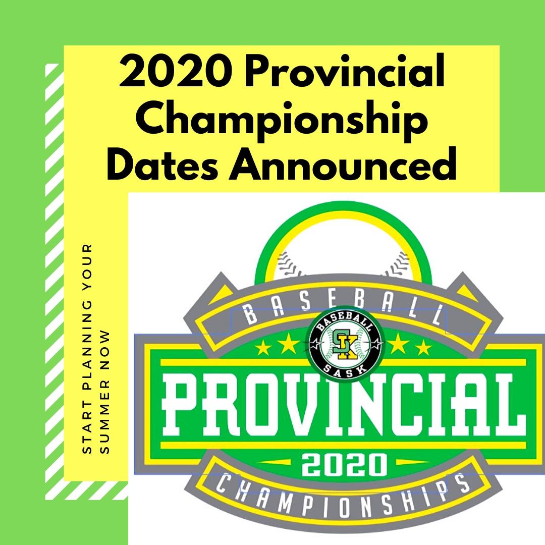 2020 Provincial Championship Dates